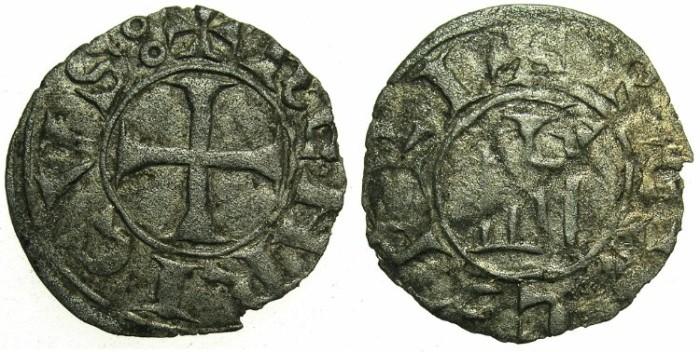 World Coins - CRUSADER STATES.CYPRUS.Henry I AD 1218-1252.Billon Denier.