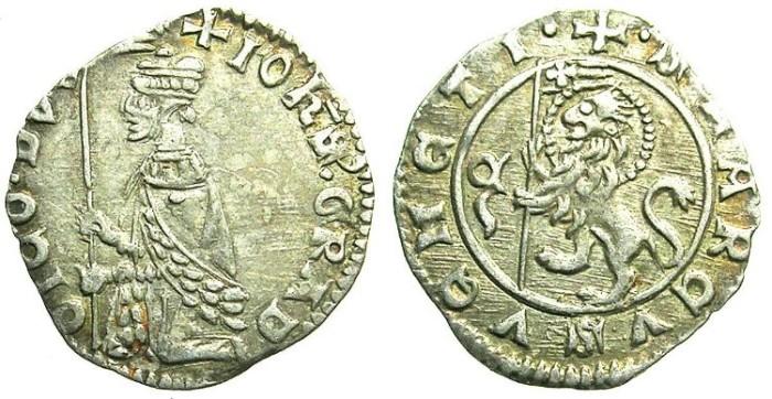 Ancient Coins - ITALY.VENICE.Giovanni Gradingo AD 1355-1356.AR.Soldino.
