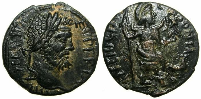 Ancient Coins - PISIDIA.ANTIOCH.Septimius Severus AD 193-211.AE.21.3mm.****EXCEPTIONAL PORTRAIT OF SEPT.SEVERUS ****