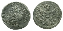 World Coins - ITALY.SICILY.Carlo III King of Sicily 1720-1734 ( also Charles VI Holy Roman Empire 1711-1740 ).AR.Mezzo Tari 1722.FN. Mint of PALERMO.