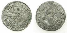 World Coins - GERMANY.TRIER.Archdiocese. Johann Hugo von Orsbeck AD 1676-1711.AR.Petermenger ( 1 Albus ) 1682.Arabic numerials.