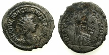Ancient Coins - ROMAN.Macrianus Usurper AD 260-261.Billon Antoninianus. Mint of ANTIOCH.***Reverse incuse strike of Jupiter entheroned **** Ex David Sellwood collection.
