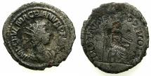 Ancient Coins - ROMAN.Macrianus Usurper AD 260-261.Billon Antoninianus. Mint of ANTIOCH.***Reverse incuse strike of Jupiter entheroned **** Ex David Sellwood collection.