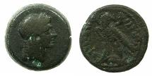 Ancient Coins - PTOLEMAIC EMPIRE.EGYPT.ALEXANDRIA.Ptolemy V Epiphanes 205-180 BC.AE.17.4mm.~~~Head of Isis.