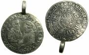 World Coins - GERMANY.Sachsen-Corburg-Eisenach.Johann Casimir and Johann Ernst AD 1572-1633.AR.1/4 Thaler 1609.***RARE but with a contemporary loop on edge ****