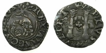 World Coins - ITALY.Charles V King of Spain and Naples-Sicily AD 1516-1556, H.R.E. 1519-1556.AR.Cinquina.Mint of NAPLES.
