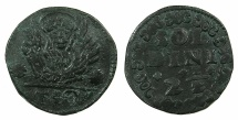 World Coins - CRETE ( Regno di Candia ) under VENICE.Anonymous issue.AE.10 Tornesi( 21/2 soldi ).Struck circa 1611-1619.