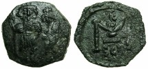Ancient Coins - BYZANTINE EMPIRE.SICILY.Constans II AD 641-668.AE.Follis.Mint of SYRACUSE.