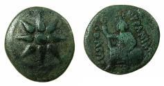 Ancient Coins - MACEDON.URANOPOLIS.Circa 300 BC.AE. Reverse. Aphrodite Urania.