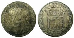 World Coins - ITALY.SAVOY.Vittorio Amadeo II 1675-1730, Regency period 1675-1680.AR. Lira.1677.Mint of TURIN.  Pedigreed to Archbishop Sharp coll. ( 1644-1714 ), Ex. Owen Parsons coll.