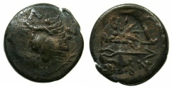 Ancient Coins - BLACK SEA.PANTIKAPAION.Circa 3rd Cent BC.AE. countermarked with a 12 rayyed star.