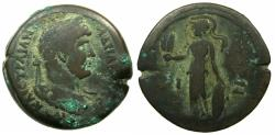 Ancient Coins - EGYPT.ALEXANDRIA.Hadrian AD 117-138.AE.Drachma, struck 132/33 AD. Rev. Athena standing holding corn ears.