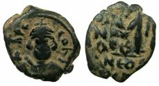 Ancient Coins - BYZANTINE.Constans II AD 641-668.AE.Follis. Obverse INPER CONST.
