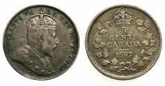 World Coins - CANADA.AR.5 Cents 1907