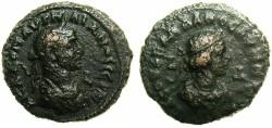 Ancient Coins - EGYPT.ALEXANDRIA.Aurelian and Vaballathus AD 270-271 .Bi.Tetradrachm.AD 270.Large busts