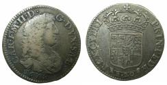 World Coins - ITALY.SAVOY.Carlo Emanuele II Duke1648-1675.AR.Lira Nuova .1675.Mint of TURIN. ***Struck last year of rule ***