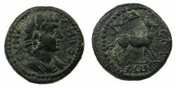 Ancient Coins - LYDIA.PHILADELPHIA.Anonymous Pseudo-Imperial circa 2nd-3rd cent AD.AE.17mm. Demos in the likeness of Antonous-favourite of Hadrian.