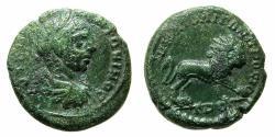 Ancient Coins - MOESIA INFERIOR.NIKOPOLIS AD ISTRUM.Elagabalus AD 218-222.AE.18mm. Reverse. Lion.