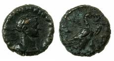 Ancient Coins - EGYPT.ALEXANDRIA.Aurelian AD 270-275.Billon Tetradrachma.struck AD 271/72.Reverse.Eagle right on thunderbolt