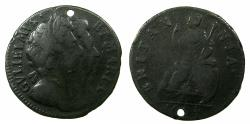World Coins - ENGLAND.William and Mary 1689-1694.AE.Farthing 1694. *** One year type ***