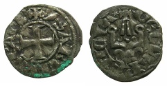 World Coins - CRUSADER STATES.Principality of ACHAIA.Isabella of Villehardouin AD 1289-1297. Bi.Denier.Type Y2.