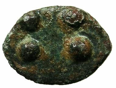 Ancient Coins - SICILY.Akrakas.Circa 450 BC.AE.Cast Trias.