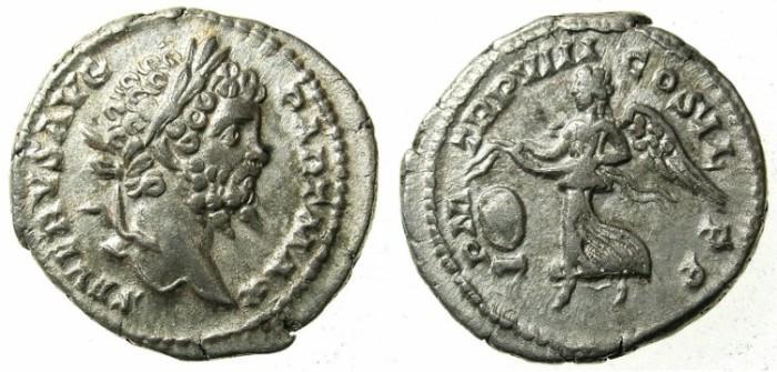 Ancient Coins - ROMAN.Septimius Severus AD 192-211.AR.Denarius.Struck AD 200.Victory.
