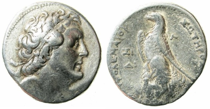 Ancient Coins - PTOLEMAIC EMPIRE.PHEONICIA.Ptolemy II 285-246 BC. AR.Tetradrachm.Struck 256/5 BC.  Mint of SIDON