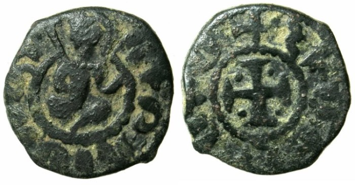 Ancient Coins - ARMENIA.Hetoum II AD 1289-1293,1295-1296 and 1301-1306.AE.Kardez.Mint of Sis