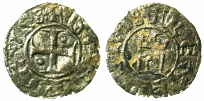 Ancient Coins - CRUSADER.CYPRUS.Henry I AD 1218-1253.Bi.Denier.Type 7.
