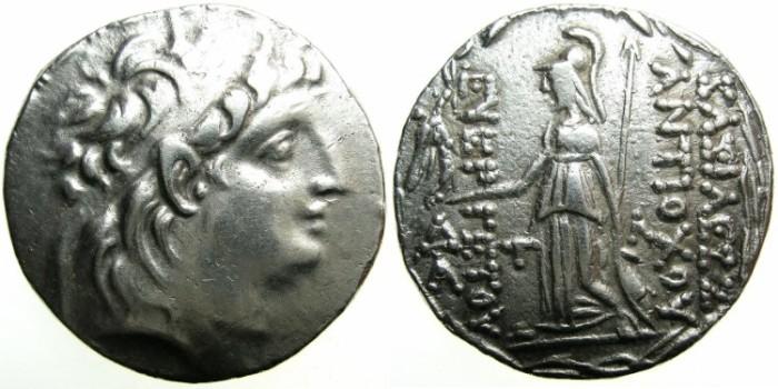 Ancient Coins - CAPPADOCIAN Kingdom.Ariarathes VIII, Ariarathes IX or Ariobarzanes I c.99-80 BC .Issue in the name of Antiochus VII (138-129 BC).AR.Tetradrachm.~#~Athena