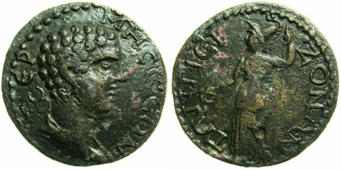 Ancient Coins - PISIDIA.TERMESSOS MAJOR.Circa 2nd-3rd Cent AD.AE 25.~~~Hermes.~#~Athena.