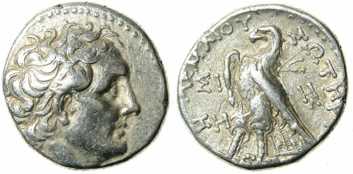 Ancient Coins - EGYPT.Ptolemaic Empire.Ptolemy III Philopator  246-221/0 BC.AR.Tetradrachm.Struck 242/1 BC.Phoenician mint of SIDON