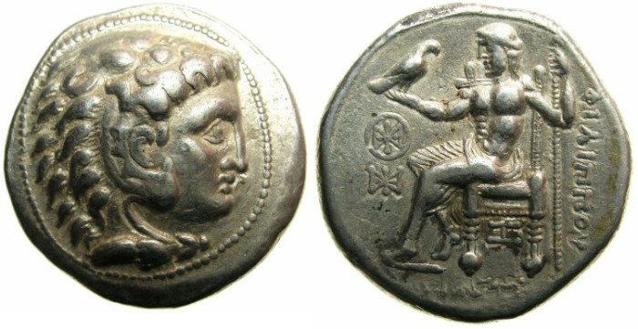 Ancient Coins - CELTIC.Eastern Celts, Danube region.2nd Cent BC.AR.Tetradrachm after Philip III ( 323-316 BC ).