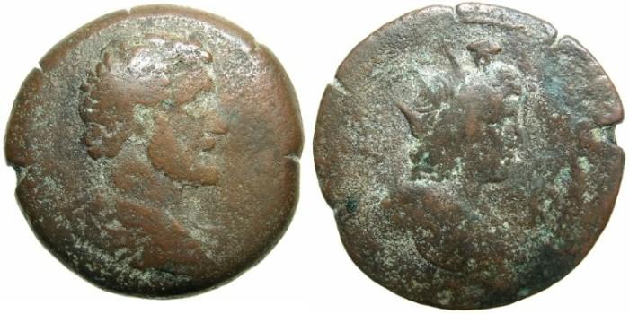 Ancient Coins - EGYPT.ALEXANDRIA.Antoninus Pius AD 138-168.AE.Drachma AD 138/139.~~~Bust of Helios-Hermanubis.