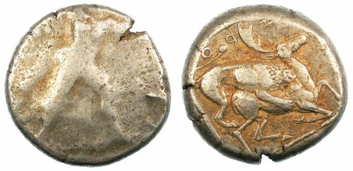 Ancient Coins - CYPRUS.CITIUM.Azbaal Circa 449-425 BC.AR.Stater.