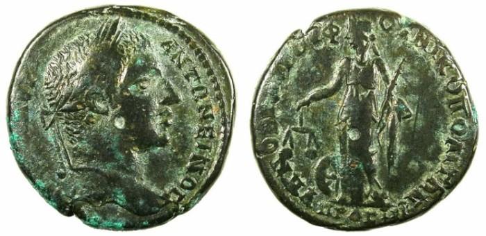 Ancient Coins - MOESIA INFERIOR.Nikopolis ad Istrum.Elagabalus AD 218-222.AE.26.Dikaiosyne-Nemesis