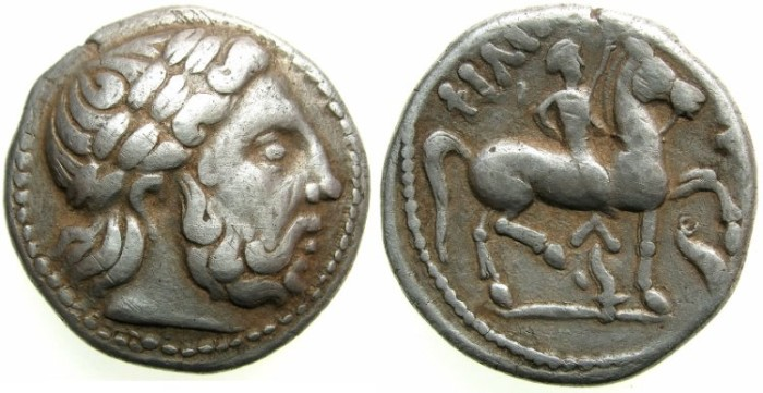 Ancient Coins - CELTIC.DANUBE REGION.2nd Cent BC.AR.Tetradrachm.~~~After an issue of Philip II of Macedon.