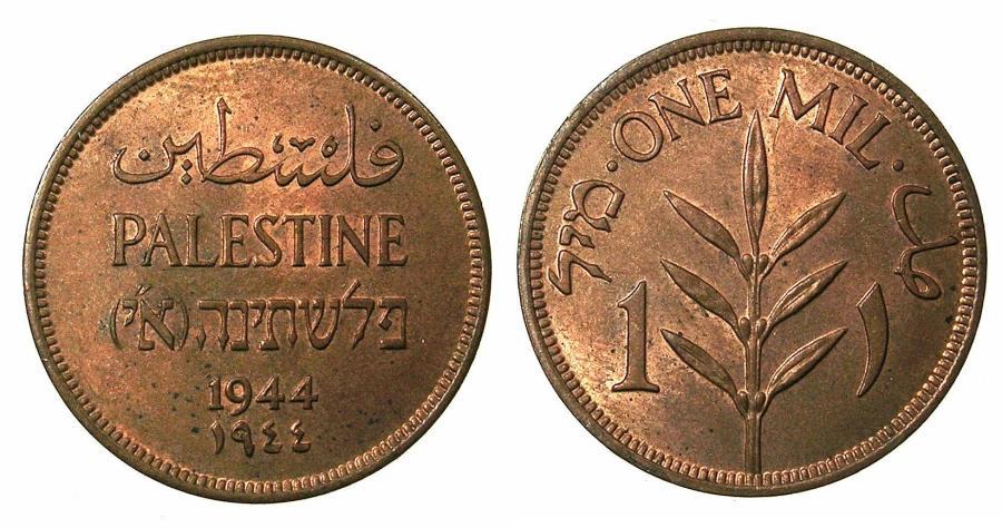 World Coins - PALESTINE.British Mandate 1920-1948AE.1 Mil 1944