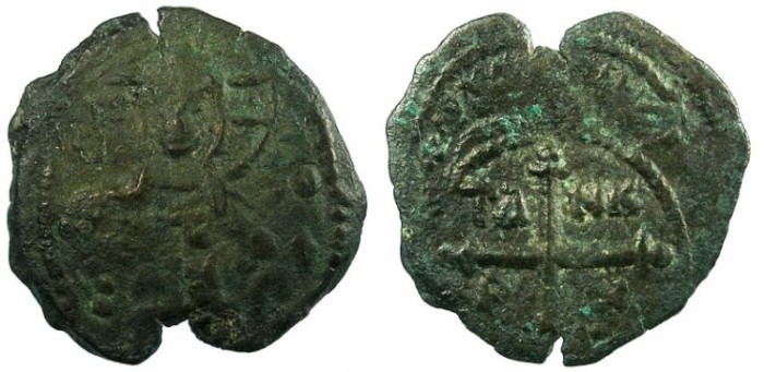 Ancient Coins - CRUSADER.ANTIOCH.Tancred AD 1104-1112.AE.Follis.4th type