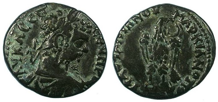 Ancient Coins - THRACE.MOESIA INTERIOR.Marcianopolis.Septimus Severus AD 193-211.AE.26mm.Eagle