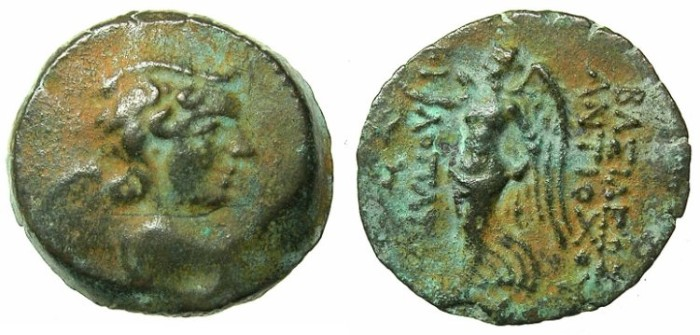 Ancient Coins - SYRIA.Uncertain Phoenician mint.Antiochus IX 114/3-96/95 BC.AE.18