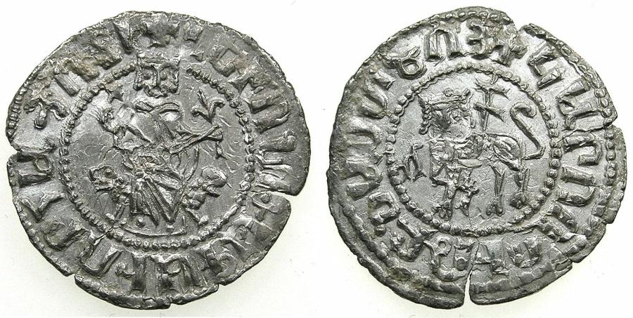 World Coins - CILICIAN ARMENIA.Levon I  AD 1198-1219.AR Half.Double Tram