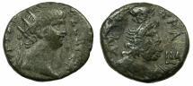 Ancient Coins - EGYPT.ALEXANDRIA.Nero AD 54-68.Billon Tetradrachm, struck AD 64/65 .~#~.Bust of Serapis wearing modius