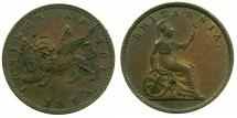 World Coins - GREECE.IONION ISLANDS, under Bristish Administration.AE.1 Lepton 1853 dot.