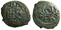 World Coins - CRUSADER.CAFFA.Genoese colony.Filippo Maria Visconti AD 1421-1435 naming Ulugh Mohammed Khan AD 1427-1433.AR.Bi-lingual Asper.
