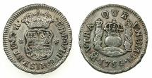 World Coins - MEXICO under SPAIN.Ferdinand VI 1746- 1759.AR.1/2 Real 1753 OR overdate 1756.Mexico city mint.