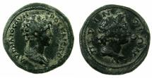 Ancient Coins - MOESIA INFERIOR.PERINTHOS.Marcus Aurelius Casear under Antoninus Pius AD 139-161.AE.23.5mm. ~#~.Bust of Demos of Perinthos. UNPUBLISHED ?
