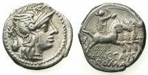 ROME.REPUBLIC.C.Cassius 126BC.AR.Denarius.