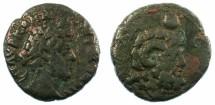 Ancient Coins - EGYPT.Alexandria.Commodus AD 180-192.Bi.Tetradrachm.Serapis bust right.